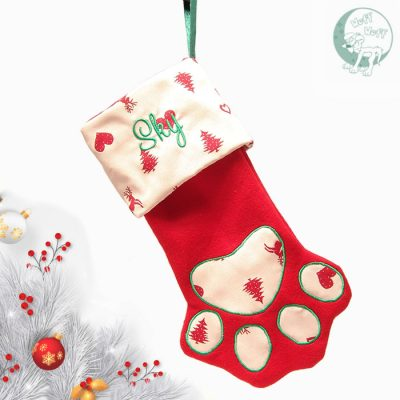 Paws Customizable Christmas Stocking