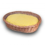 Wicker oval dog basket