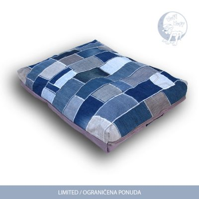 Denim patchwork dog beds