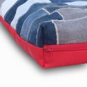 Denim patchwork dog pillows