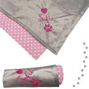 Juma Dekica za pse sivo-roza