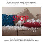 Neunistiv jastuk za pse