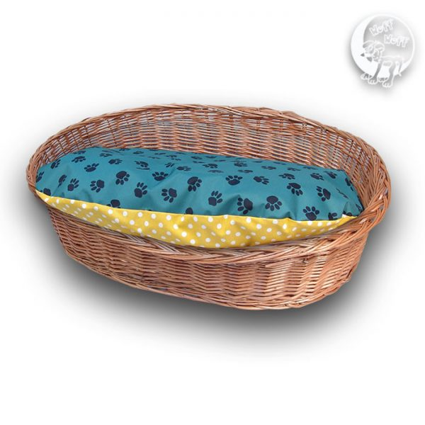 Wicker dog basket bed